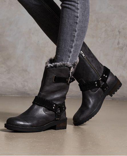 Tempter Biker Boots in 2019 | Superdry boots, Boots, Biker boots