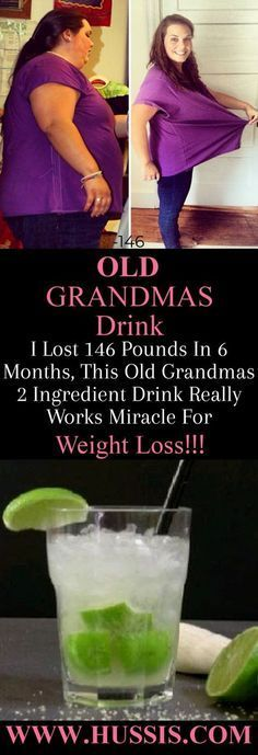 I Lost 146 Pounds In 6 Months, This Old Grandmas 2 Ingredient Drink Really Works Miracle For Weight