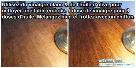 Nettoyer Une Table En Bois Blanc