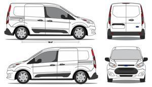 Ford Transit Connect Vehicle Outlines 4 Ford Transit Ford Vehicles