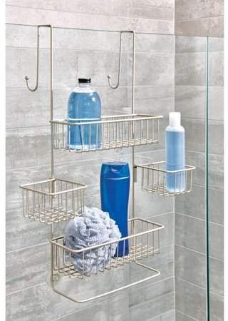 Interdesign Metalo Over Door Shower Caddy Walmart Com Shower Caddy Shower Storage Shower Organization
