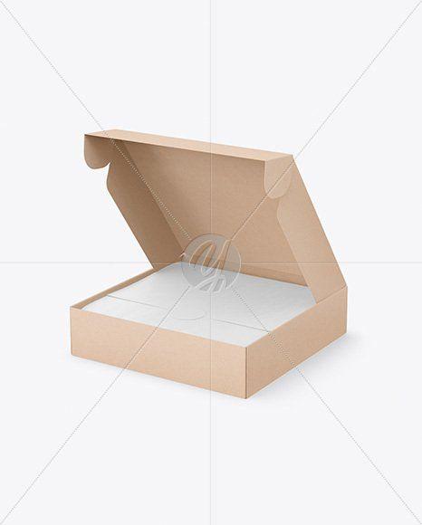 Download Opened Pizza Kraft Box Mockup Top View Opened Kraft Pizza Box Mockup In Object Mockups On Yellow Box Mockup Kraft Boxes Mockup