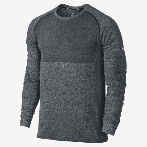 99cf68552f3fa Nike Dri-FIT Knit Long-Sleeve Men s Running Shirt