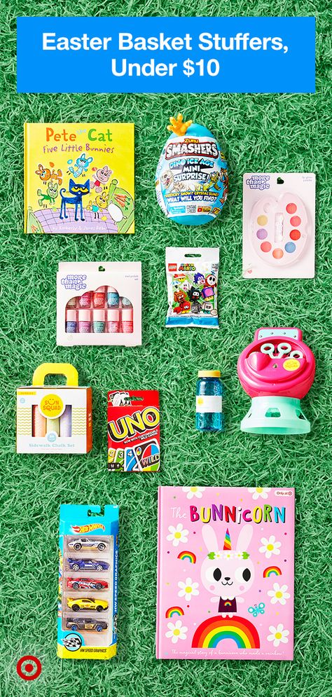 From toys to books, thrill everybunny with great basket stuffers under $10.