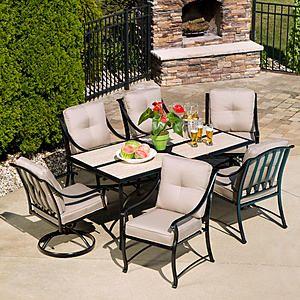 45+ Sears 7 piece patio dining set Best