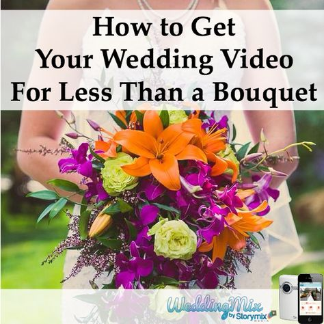 A creative way to save money on your wedding video