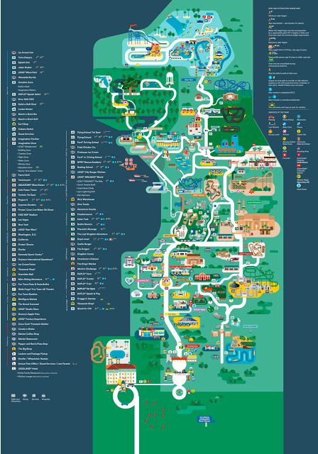 Resultado de imagem para mapa legoland