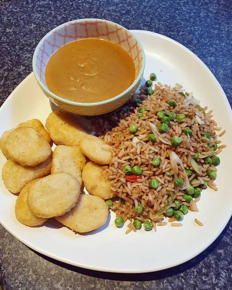 Chinese Fakeaway Rice Fried In Fry Light With Peas