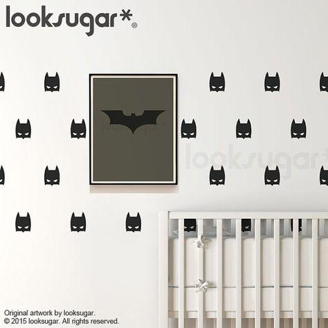 Batman Mask Wall Decal With Wallpaper Or Wall Stencil By Looksugar