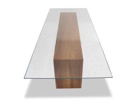Glass Top Solid Wood Dining Table Midcentury Modern Glass Dining