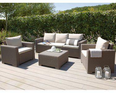Gartenmobel Set Lounge Gruppe Mombasa Polyrattan Cappuccino Sand 4 Tlg Kaufen Bei Obi Gartenmobel Sets Aussenmobel Gartenmobel