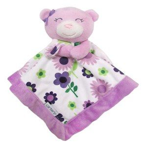 Carter S Purple Bear Security Blanket With Plush Girl Security