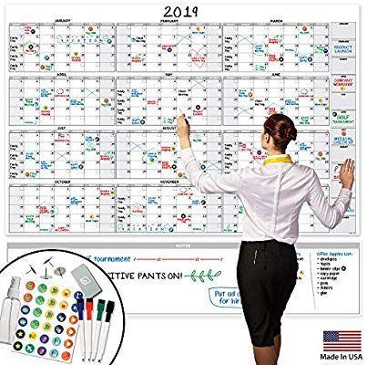 Amazon Com Large Dry Erase Wall Calendar 58 X 38 Blank 2019 Reusable Annual Planner Academic Fis Dry Erase Wall Calendar Dry Erase Wall Wall Calendar