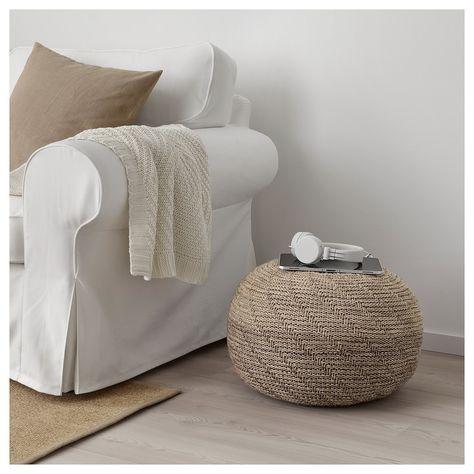 SANDARED Pouffe - beige - IKEA