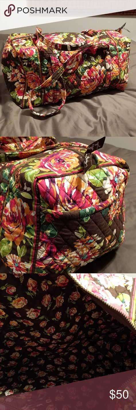 ab5aac85a8 VERA BRADLEY Large Duffle in English Rose NEW I went on a Vera Bradley  buying binge this past year. I bought this and haven t used it.