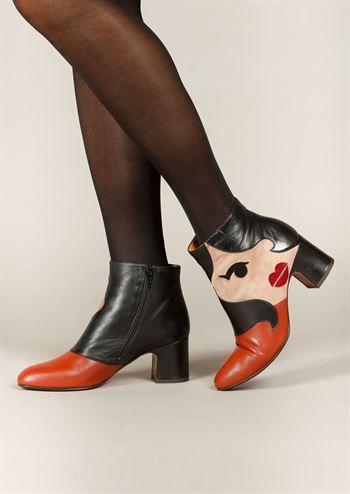 3d8c3ceb Chie Mihara støvler NALA alfa terra peach . Dame skind støvler med hæl