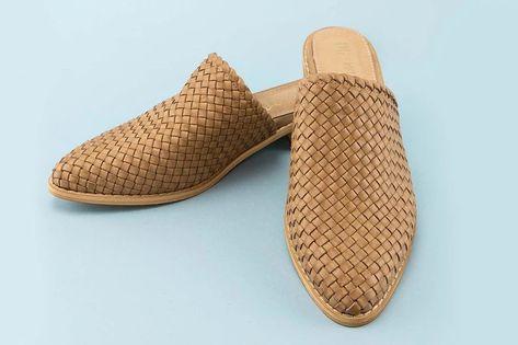Grant Natural Raffia Woven Loafer Slides