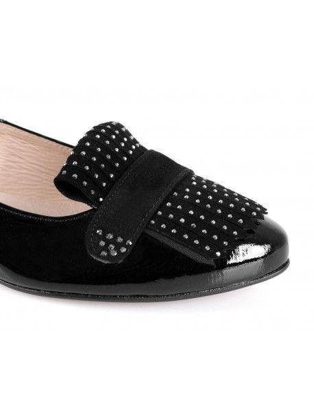 Piekne Polskie Czolenka Paolo Parma Lakierowane Czarne Ozdoba Swarovski Shoes Sandals Pool Slides