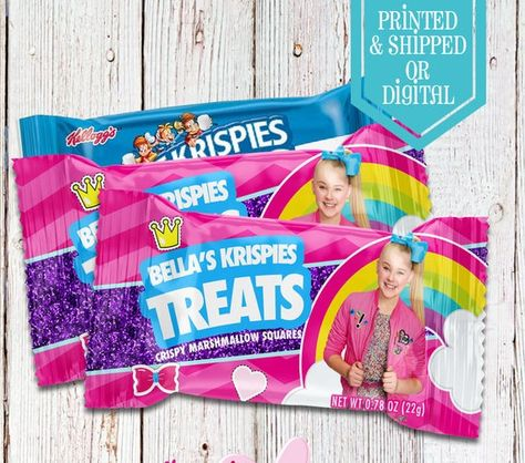 Jojo Rice Krispie Treats - Rice Krispies - Jojo Birthday ...