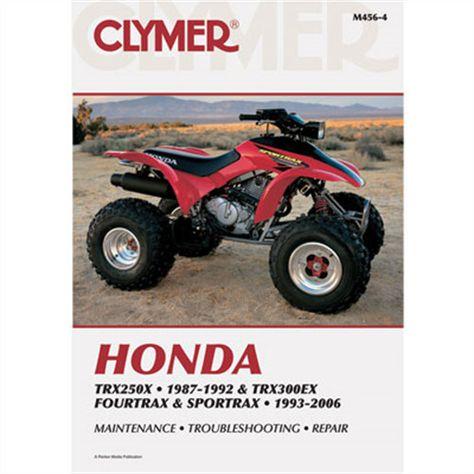 1993-2000 Honda TRX300EX FOURTRAX Repair Manual Clymer M456-4 Service Shop