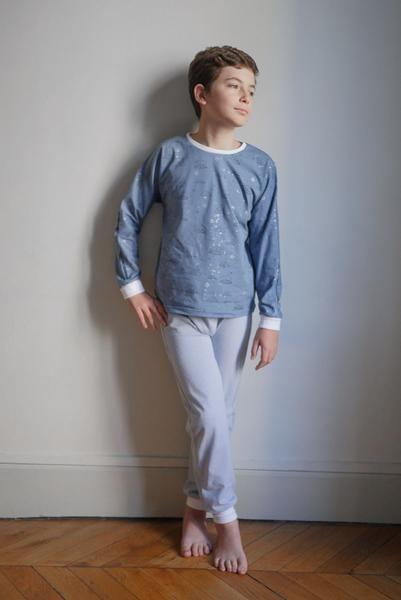 Patron de couture Pyjama mixte SACHA PDF 3-12A – ikatee