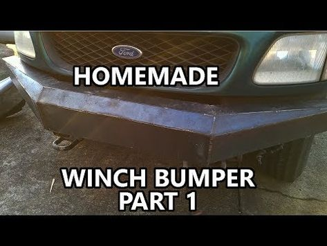 Homemade Bumper With Harbor Freight Welder Part 1 Youtube