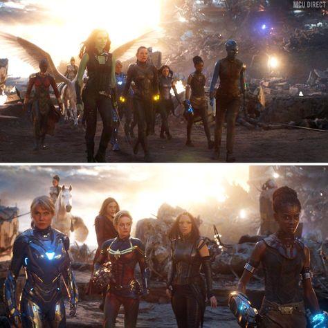 All the female Avengers unite against Thanos in Avengers endgame scene