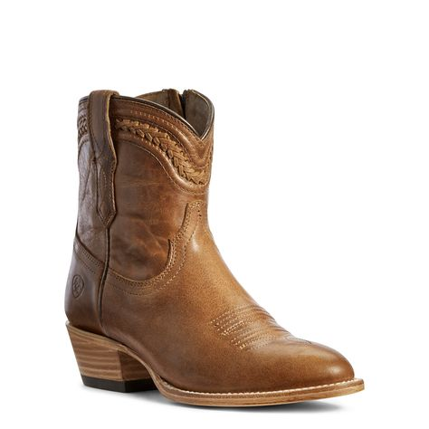 Ladies Ariat Amber Brown Legacy Texas Cowboy Boots | Shop