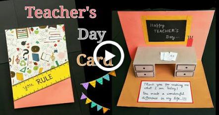 Teachers Day Card Teachersdaycard Teachers Day Card Making Idea