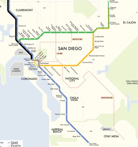 San Diego Subway Map.Pinterest Pinterest