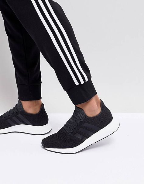 adidas Originals Swift Run Sneakers In Black CQ2114