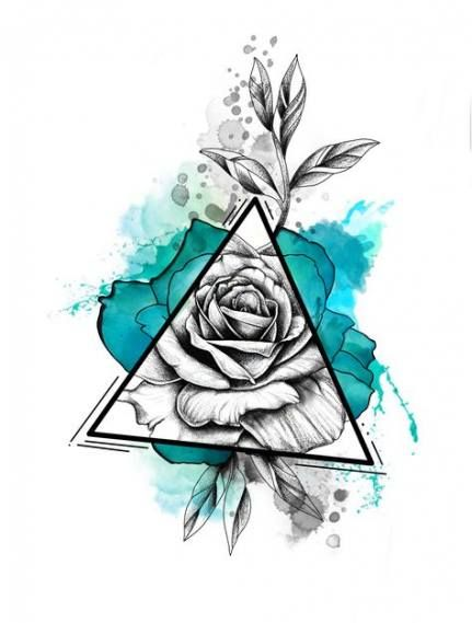 Flowers Tattoo Designs Sketches Colour 57 Ideas Tattoos Flower Drawing Rose Sketch