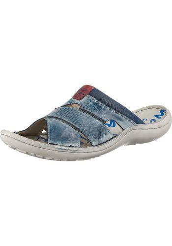 Rieker Slippers voor heren Blauw Nelson.nl