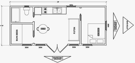Woodshop Plans 12 X 24 Tiny House Floor Plans Interior Floor Plan