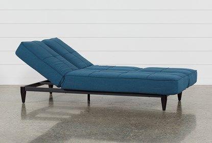 Paige Blue Convertible Sofa Chaise Sleeper With Images Chaise Sofa Convertible Sofa Chaise