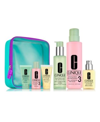 Clinique 7 Pc Great Skin Everywhere Skin Care For Oily Skin Set Skin Care Gifts Skincare Set Gel Moisturizer