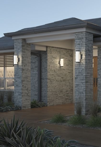 Gage 20 Outdoor Wall Classically Elegant With Contemporary Cylindrical Design The Gage Creates A Wide Di House Designs Exterior Outdoor Walls Exterior Design