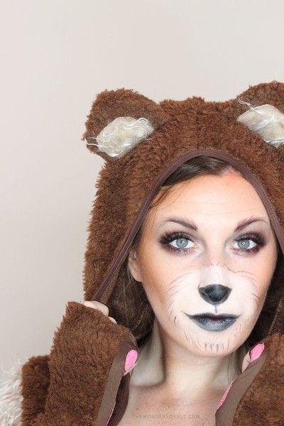 Brown Bear - Amazing Animal Makeup Looks You Can Easily Rock This Halloween - Photos
