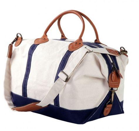 Canvas Duffle Bag - Navy – Social Manor
