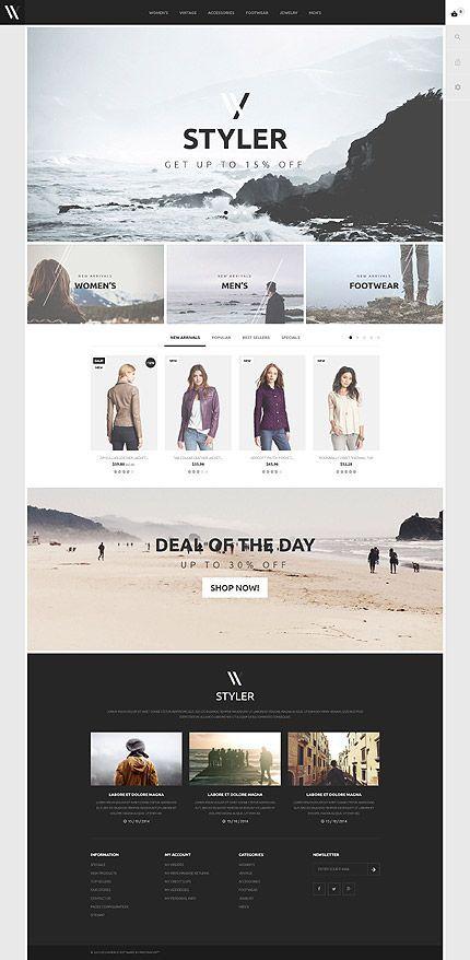 Fashion Clothing Online Store Web Layout Design Web Design Inspiration Website Design Inspiration