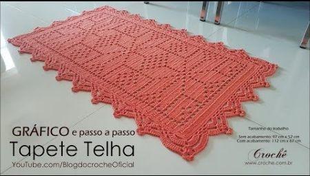 Bico Em Croche Carreira Unica 44 Crochet Alligator Tapete De