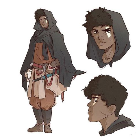 male / human fighter / adventurer  DnD / PAthfinder character with multiple swords POC