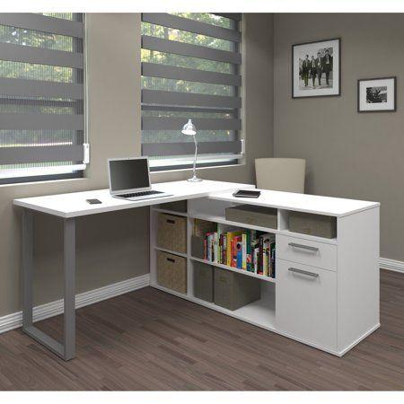 Solay L Shaped Desk In White Walmart Com White L Shaped Desk L Shaped Desk Cheap Office Furniture