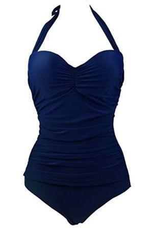 Best Women S Bra Sized Swimwear Swimsuits By Bra Size Halter One Piece Swimsuit One Piece Swimwear Retro One Piece Swimsuits