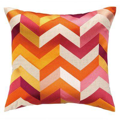 D L Rhein Brooke Throw Pillow In 2020 Orange Throw Pillows