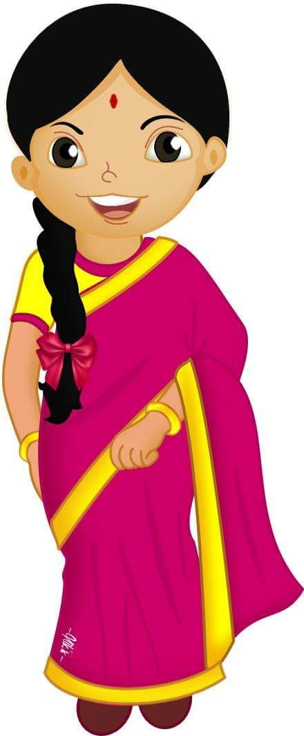 Pakaian Tradisional Gambar Kartun Pelbagai Kaum Di Malaysia Colouring Mermaid Typography Hand Drawn Indian Cartoon Characters Cartoon Kids