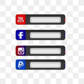 Twitch Live Streaming Gaming Overlay Social Media Popup Buttons Png And Psd Social Icons Social Media Buttons Overlays
