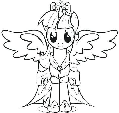 My Little Pony Twilight Sparkle Printable Coloring Pages New Page With Additional Line Draw My Little Pony Coloring My Little Pony Twilight My Little Pony Baby