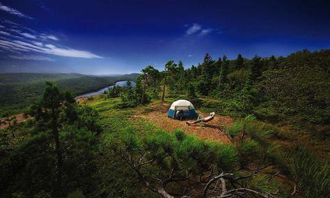 Copper Harbor, Michigan Camping at Porcupine Mountain ...