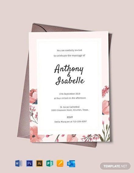 Free Blank Wedding Invitation Template Word Doc Psd Indesign Apple Mac Pages Publisher In 2020 Blank Wedding Invitation Templates Wedding Invitations Printable Templates Free Wedding Invitation Templates